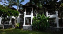 View of rooms from garden at Langkawi taj vivanta rebak island resort
