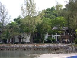 View of Rooms from the beach at Langkawi taj vivanta rebak island resort