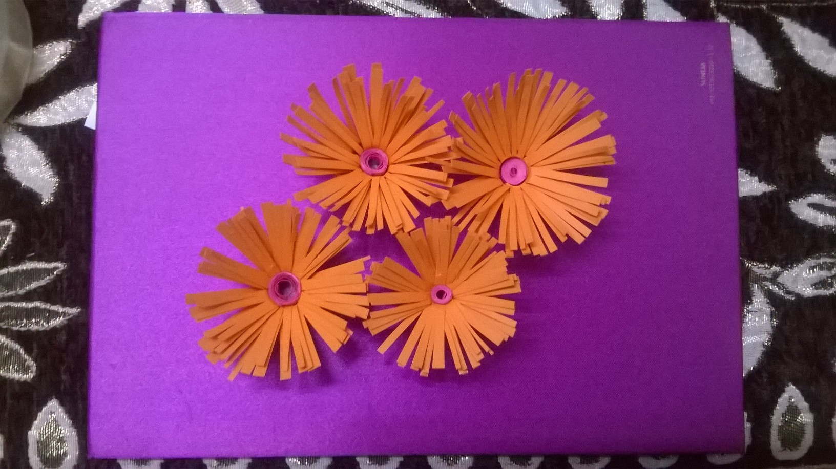 Quilling sharing our experiences diy hand crafted paper quilled flower greeting card mightylinksfo
