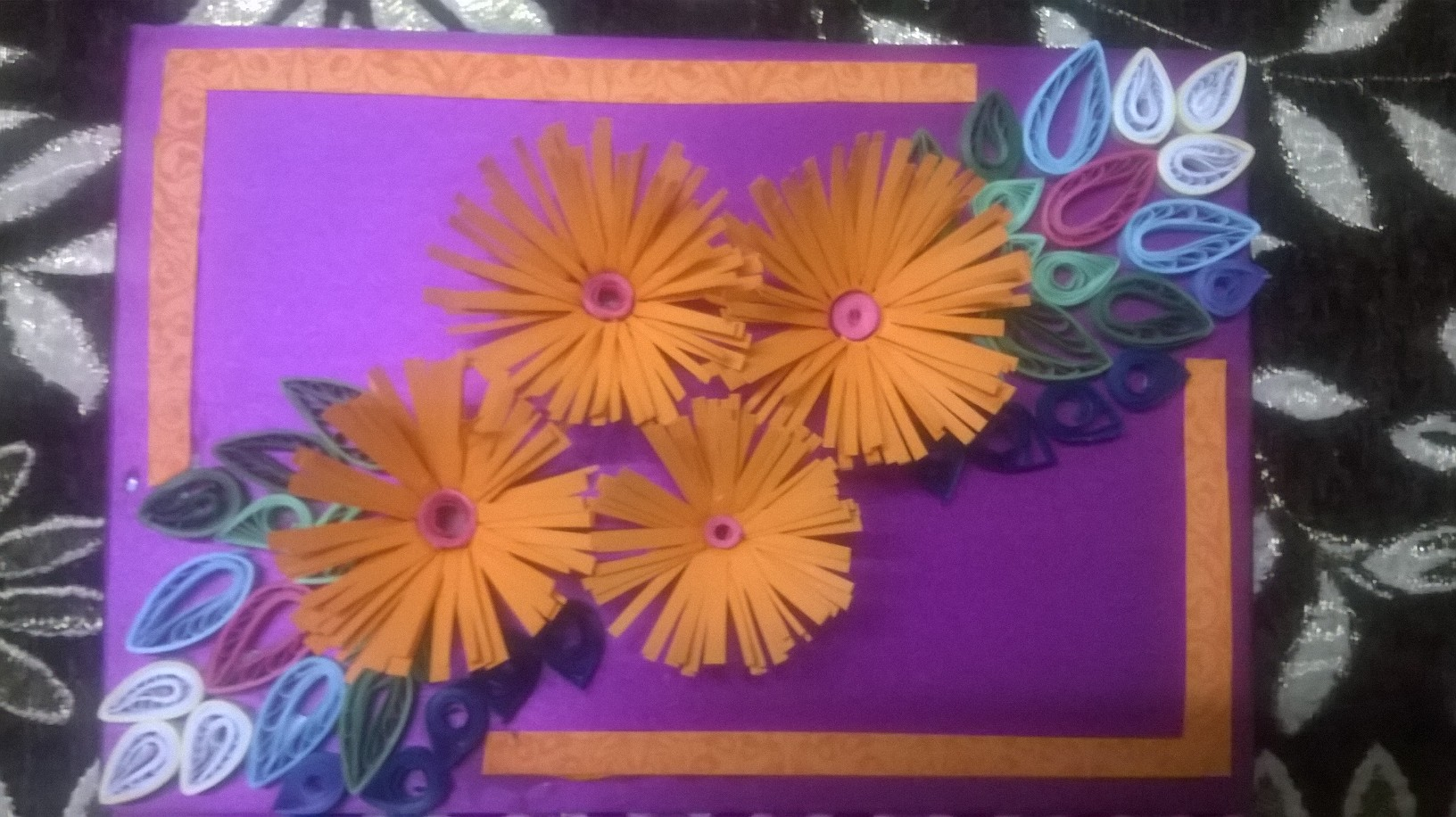 Greeting card sharing our experiences diy hand crafted paper quilled flower greeting card 16 kristyandbryce Choice Image
