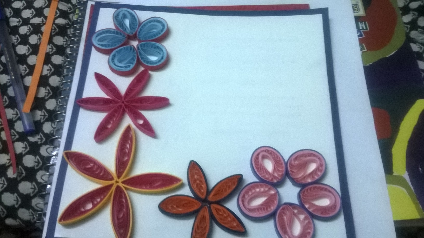how to make paper flowers for cards